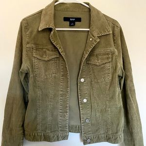 Corduroy green/tan colored jacket from GAP.